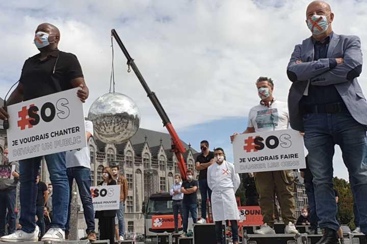 Manifestation « Sound of silence » à Liège (septembre 2020)